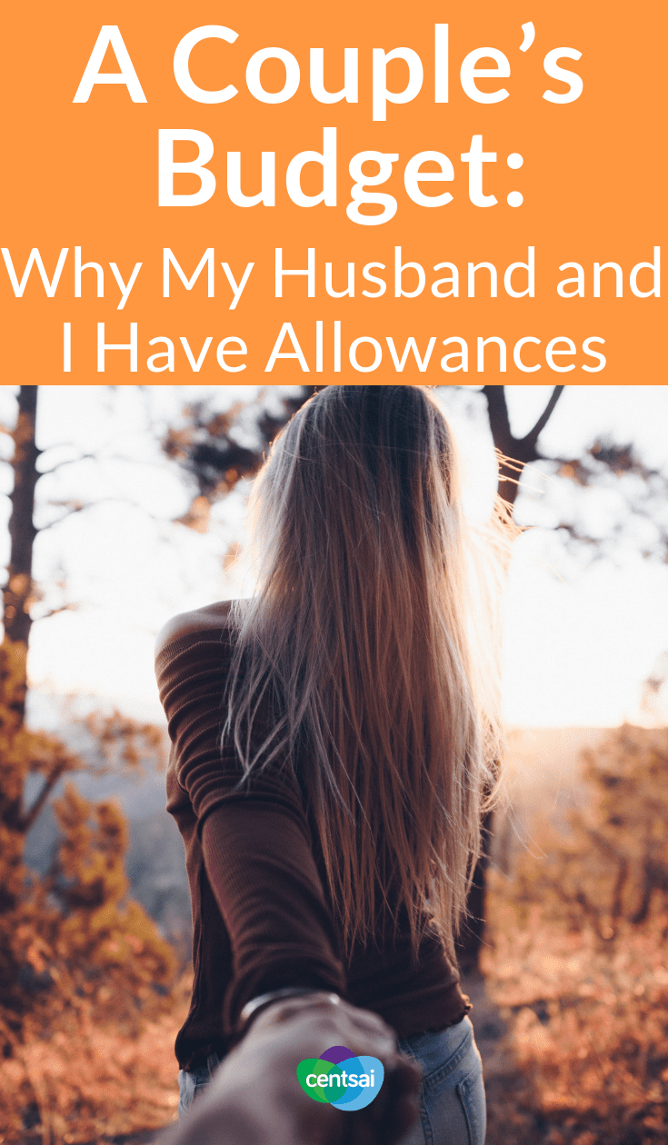A Couple's Budget: Why My Husband and I Have Allowances. Sometimes #spouses can have trouble figuring out a couple's budget with combined finances. Check out how creating allowances can help. #relationship #marriage #budget