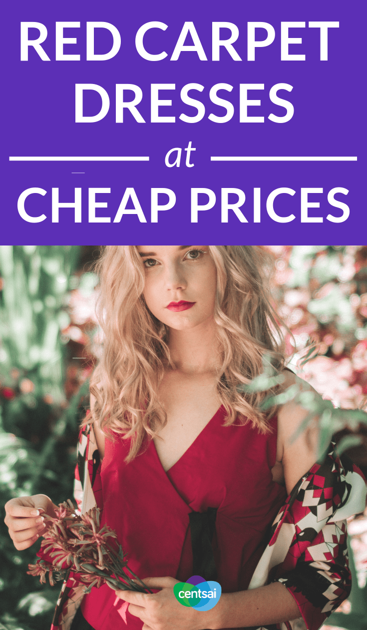 Red Carpet Dresses at Cheap Prices. Your Guide to Getting Cheap Red-Carpet Dresses. Celebs' high-class Oscar looks are often worth thousands — even millions. So how can you get those looks without selling your soul to the devil in Prada? Luckily, there are ways to get your hands on cheap red-carpet dresses — or at least, similar versions of them. #savingtips #frugaltips #lifestyleblogs #frugalhacks