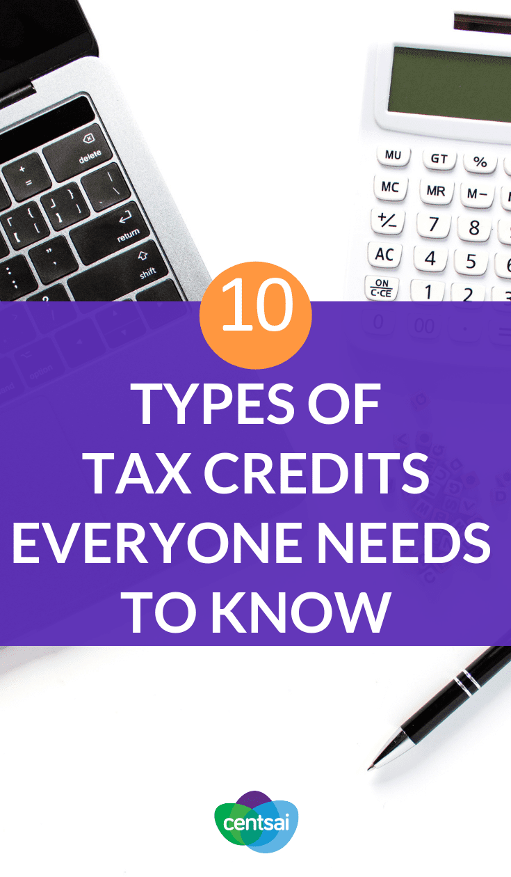 10 Types of Tax Credits Everyone Needs to Know. Did you know that you could #savemoney on your taxes for having #healthinsurance or adopting a kid? Read up on the many types of #taxcredits #taxcredisttips #taxcredits2019 #credittips