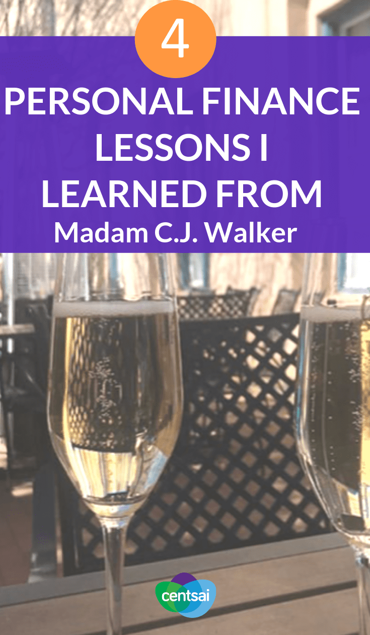 4 Personal Finance Lessons I Learned From Madam C.J. Walker. Do you know about Madam C.J. Walker? You should. This entrepreneur can teach you tons about money. Check out these personal finance lessons. #personalfinance #moneymanagement