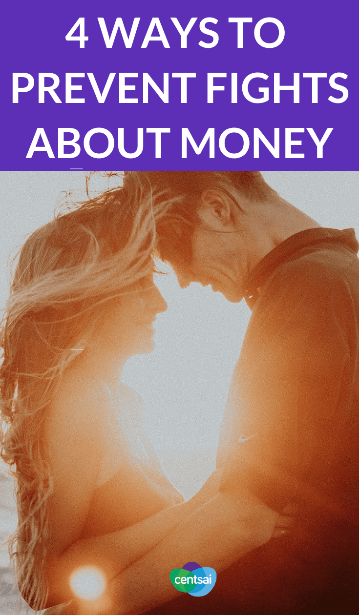 4 Ways to Prevent Fights About Money. #Relationships and financial stress don't mix well. Learn how to prevent financial problems in marriage to keep your relationship a happy one. #moneymatters #couples #financialmanagement #personalfinance