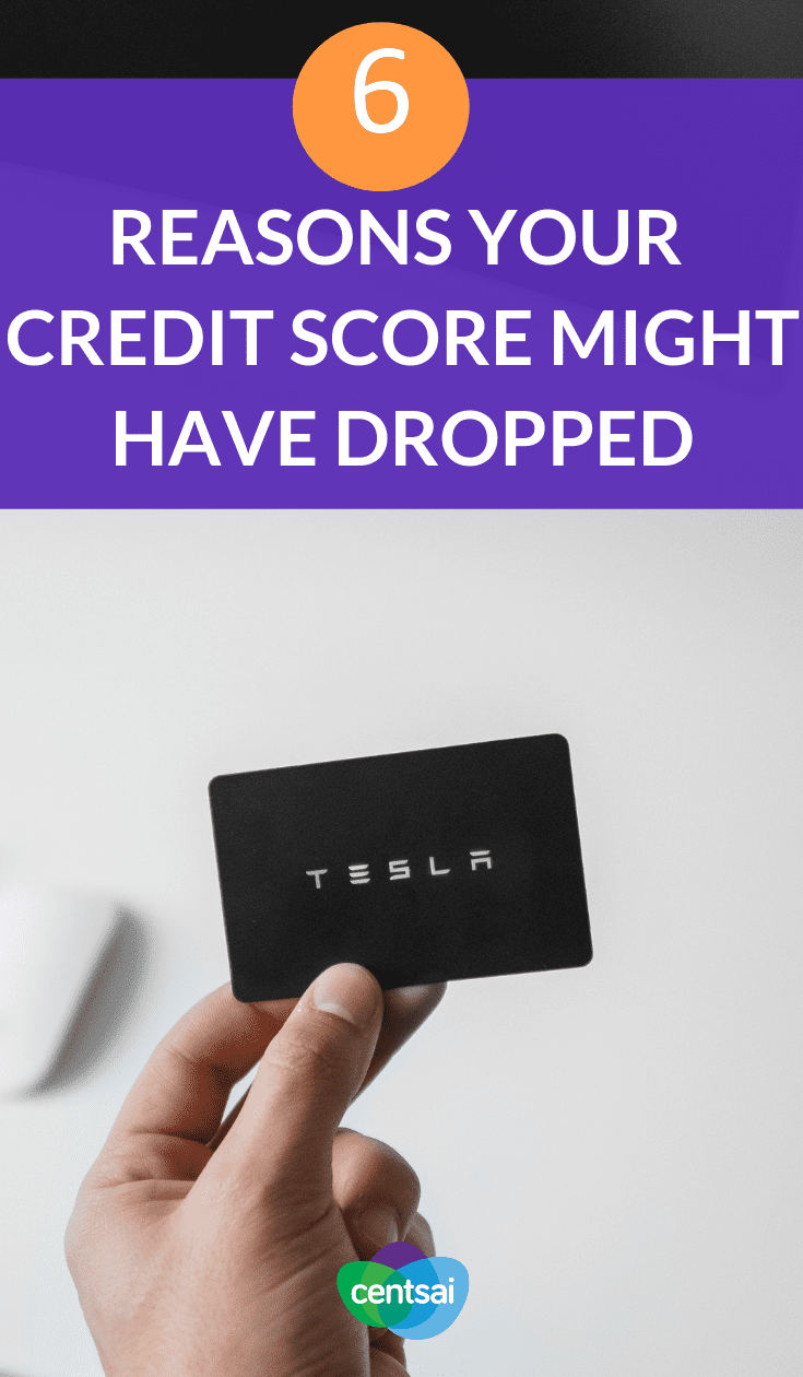 6 Reasons Your #CreditScore Might Have Dropped. Did your credit score drop suddenly for no obvious reason? Learn what the cause might be so you can correct course as soon as possible. #creditscoretips #Creditcard #credicardttips