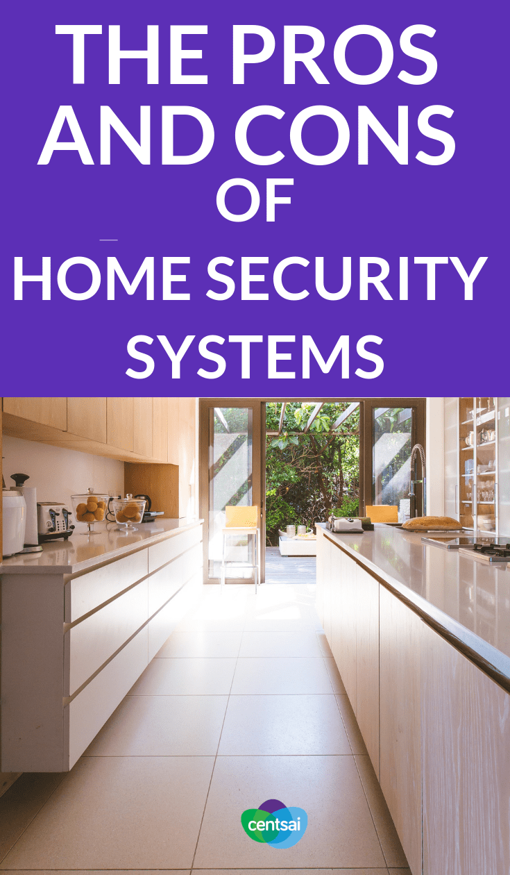 The Pros and Cons of Home Security Systems. Is your house adequately protected from theft? Check out the pros and cons of home security systems to see if they're right for you. #homesecyrity #houseimprovement