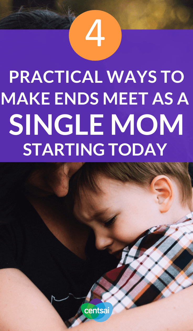 4 Practical Ways to Make Ends Meet as a #SingleMom Starting Today. Single parenting can be tough, but don't let stereotypes define you. Learn how to survive #financially as a single mom and make ends meet. #savingtips #savingmoneytips #personalfinance #personalfinancetips #financialindependence