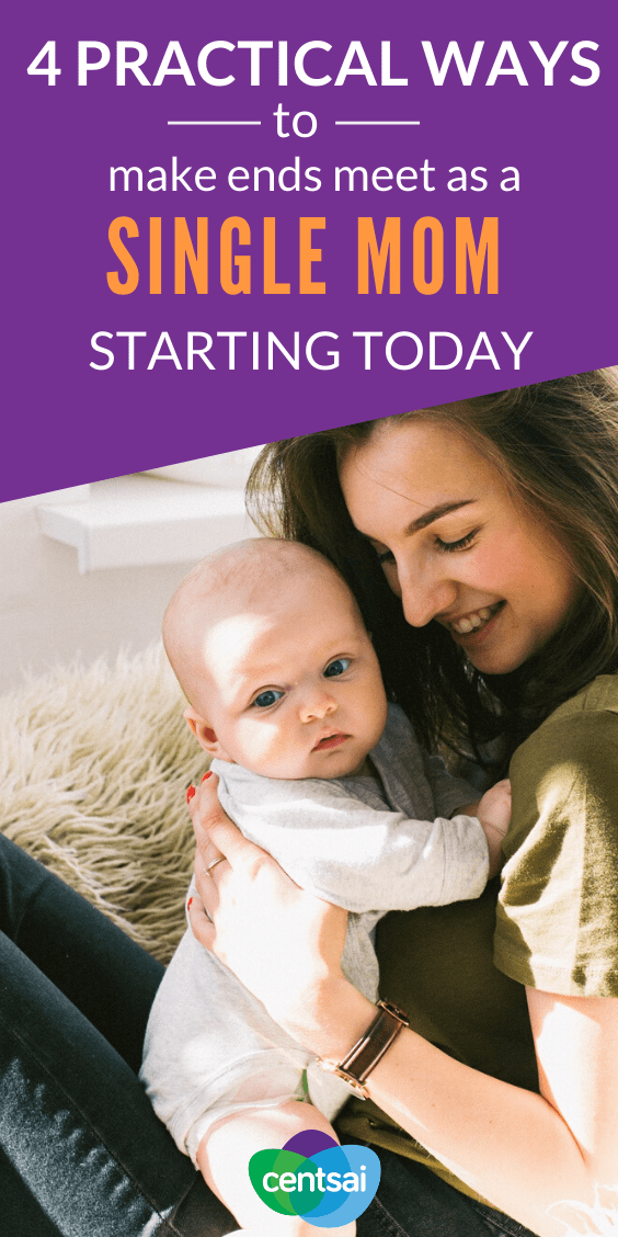 Single parenting can be tough, but don't let stereotypes define you. Learn how to survive financially as a single mom and make ends meet. #savingtips #savingmoneytips #personalfinance #personalfinancetips #CentSai