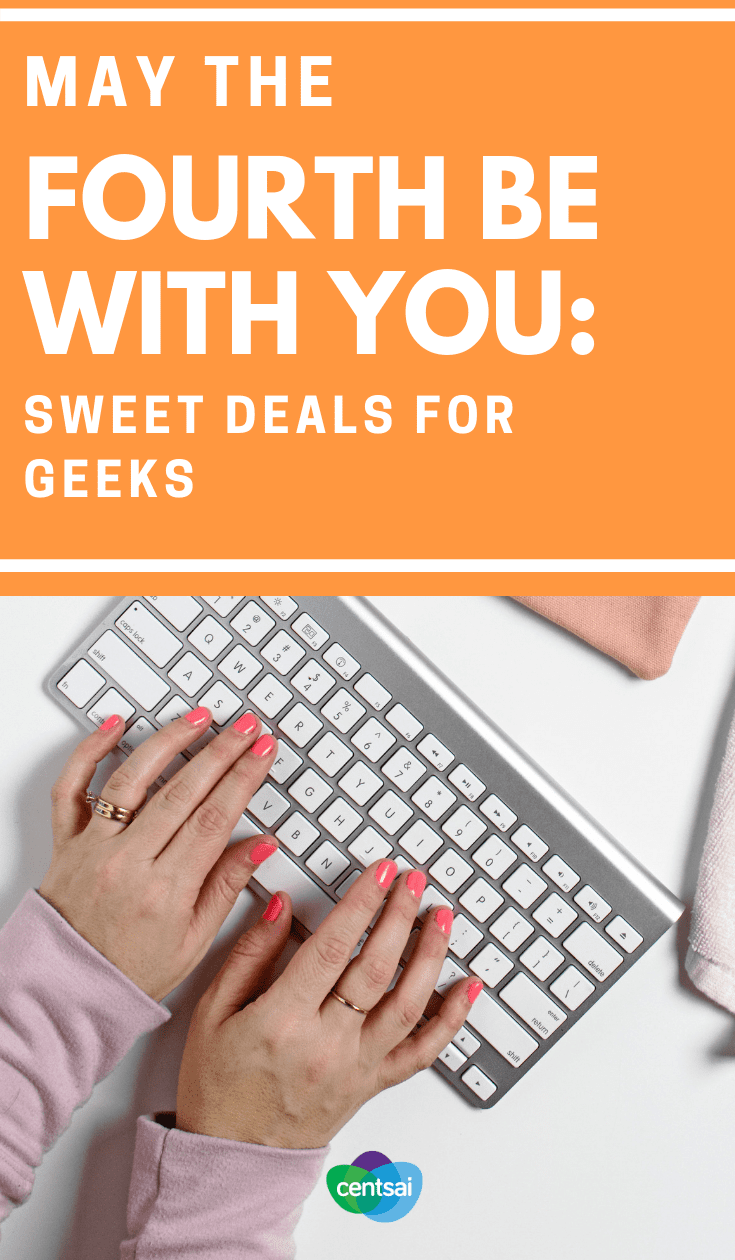 May The Fourth Be With You: Sweet Deals for Geeks. It's every Star Wars geek's favorite day, and we have some great tips for finding sweet Star Wars Day deals. May the fourth be with you! #frugalliving #frugallivingideas #savingtips #savingmoneytips