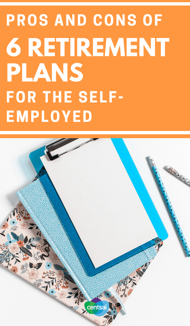 Pros and Cons of 6 #RetirementPlans for the #SelfEmployed. It's tough to save for the future when you work for yourself. But we found the best retirement plans for self-employed people. Check'em out. #savingtips #savingmoneytips #savingmoney #savingsplan