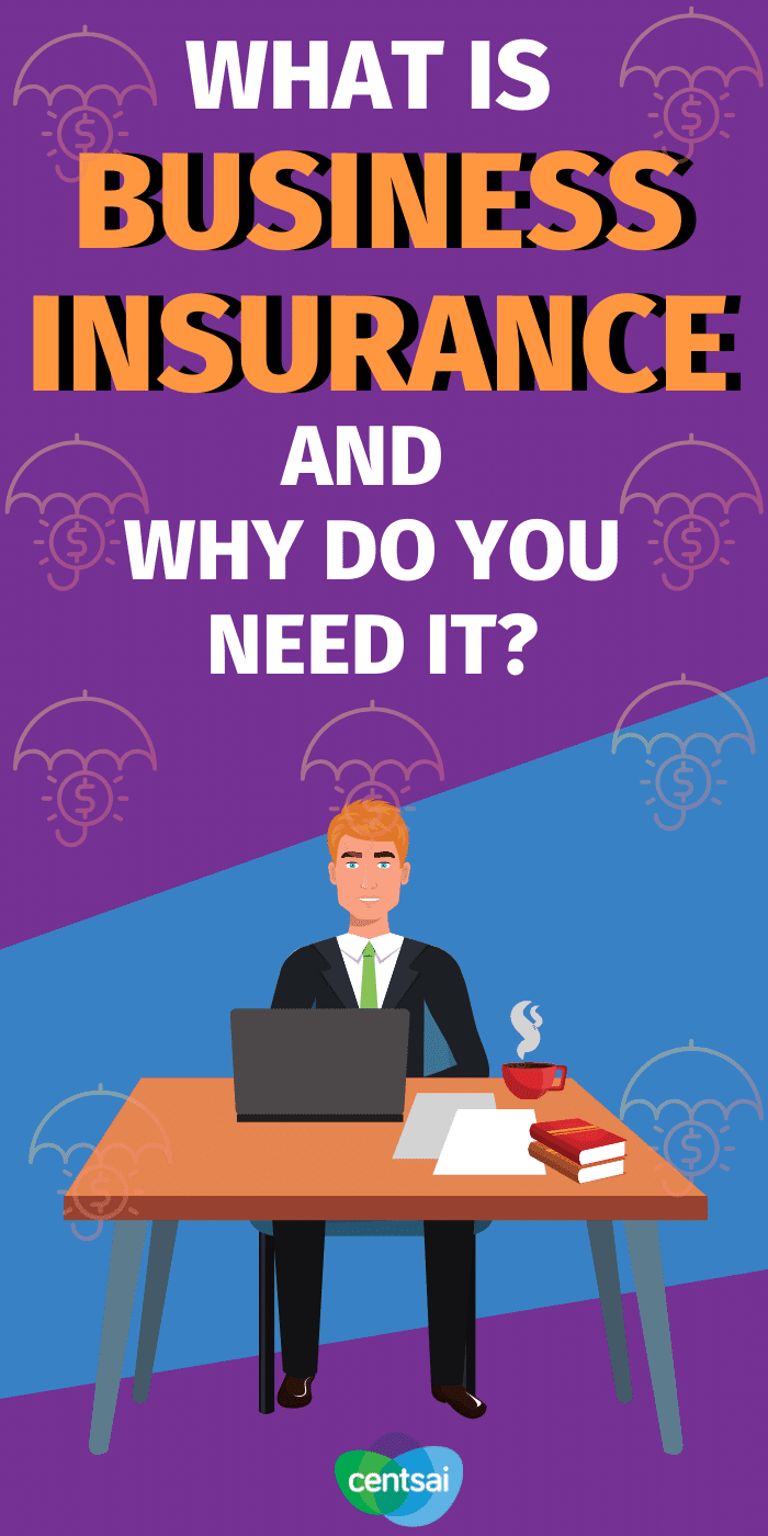 Do you find yourself wondering whether you need insurance for your small business? Learn what business insurance is and why it's important. #CentSai #businessinsurance #smallbusiness #entrepreneur #insurance