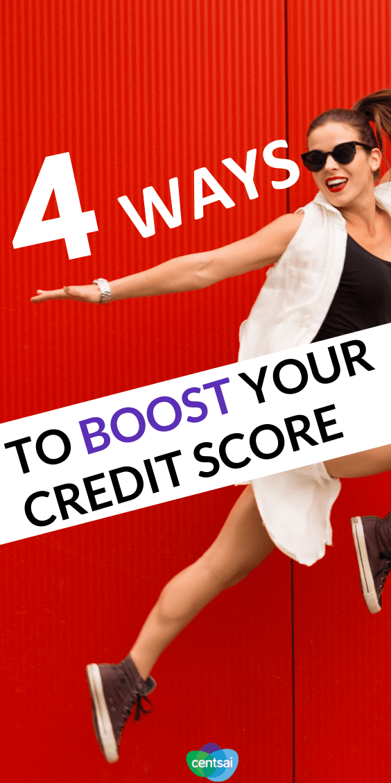 When you're in a crunch, there are four ways you can boost your credit score quickly. Check this out!