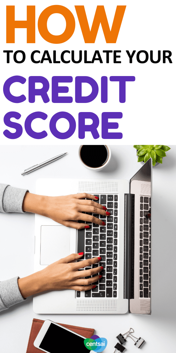 How to calculate your credit score. #Creditscores are calculated using a formula based on your credit history. Each part of your credit history is weighted differently.