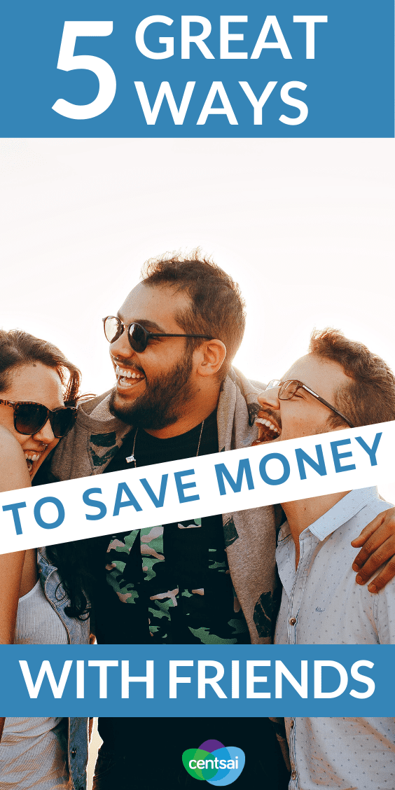 Did you know that hanging out with your besties can actually save you money? Check out these five awesome ways tips and ideas to save money with friends. #budget #savingmoney #tips #ideas #frugaliving #CentSai