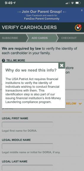 FamZoo's Patriot Act Explanation