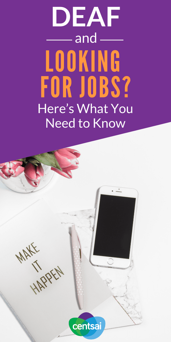 Looking for jobs is challenging for anybody, but especially if you're deaf. Check out these tips and resources to help you with your search. #deaf #disability #awereness #hacks
