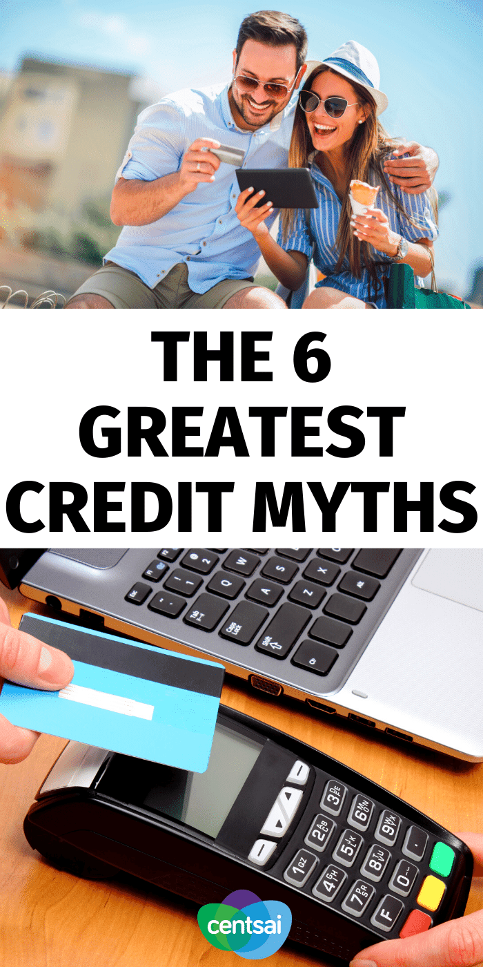 There is a lot of misinformation when it comes to credit. Our resident expert debunks the top myths surrounding credit. Check out these credit score myths. #CentSai #creditcard #improvecreditscore #creditscore #bettercreditscore