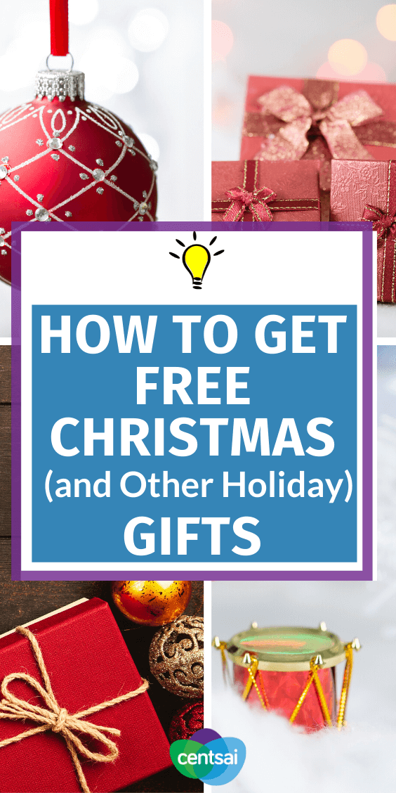 Can't afford holiday presents this year? On a tight Christmas budget? Tons of organizations are ready to help. Check out these ideas and learn how to get free Christmas gifts for your family. #CentSai #ChristmasgiftsDIY #Ideas #frugaltips #savingtips