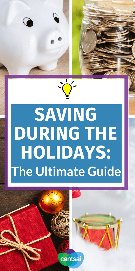 Trying to save during the holidays? Got financial New Year's resolutions? We have tips and ideas how to cut back during December and into the coming year. #savingmoneytips #savingmoneyideas #CentSai #savingmoneychallenge