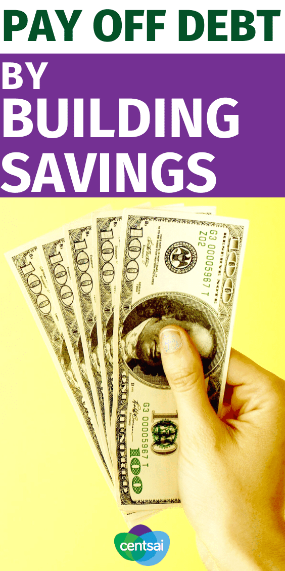 Don't pay extra toward your debt. Learn how building your savings can help you pay off debt quickly — you might even cut costs in the process. #CentSai #payoffdebt #payoffdebt #financialindependence #personalfinance