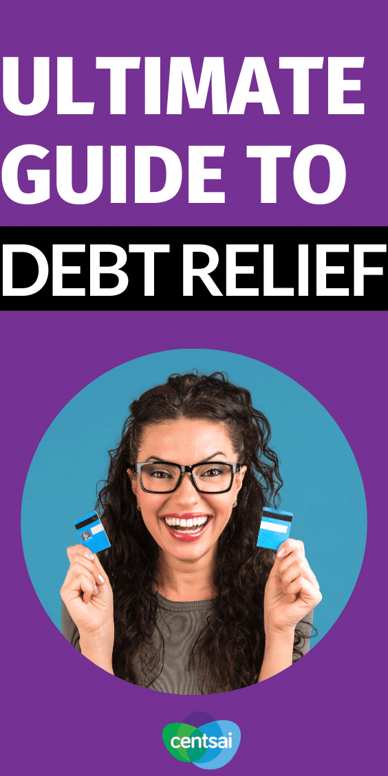 Drowning in debt? Need help? Learn what debt relief is, how it works, and whether it's the right choice for you with the help of this thorough guide. #CentSai #debt #personalfinance #debtmanagement