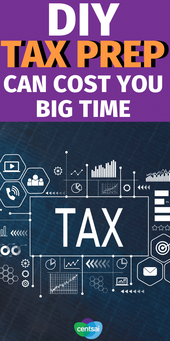 Doing taxes yourself may save you money, but getting help from a professional could be well worth it, especially for the self-employed. #CentSai #taxes #savemoney #taxestips #taxes #DIY