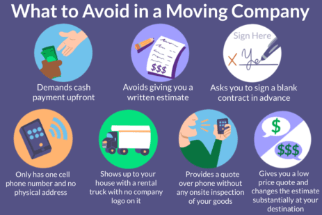 What to avoid in a moving company