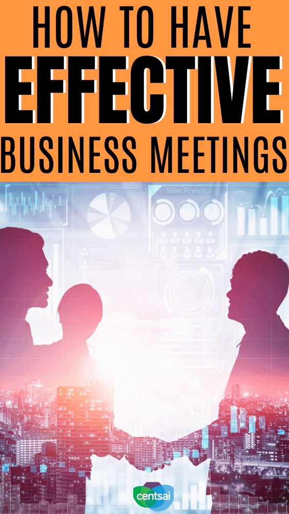 How to Have Effective Business Meetings. In the modern business world, it is important to run effective meetings to ensure that your business can run smoothly. If you want your meeting to be effective, make sure it serves a purpose and has an agenda. If there's no purpose, I agree with Seth Godin: Cancel it. Here's how to do it. #CentSai #entrepreneurship #entrepreneurideas #entrepreneurideasstartups