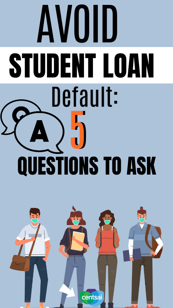 Avoid Student Loan Default: 5 Questions to Ask. A step-by-step guide to help you avoid any student loan default traps. Written by someone who successfully paid off $81,000 in student debt. Follow these tips to avoid student loan default. #CentSai #studentdebt #studentloandebt #studentloans #studentloanpayoffplan