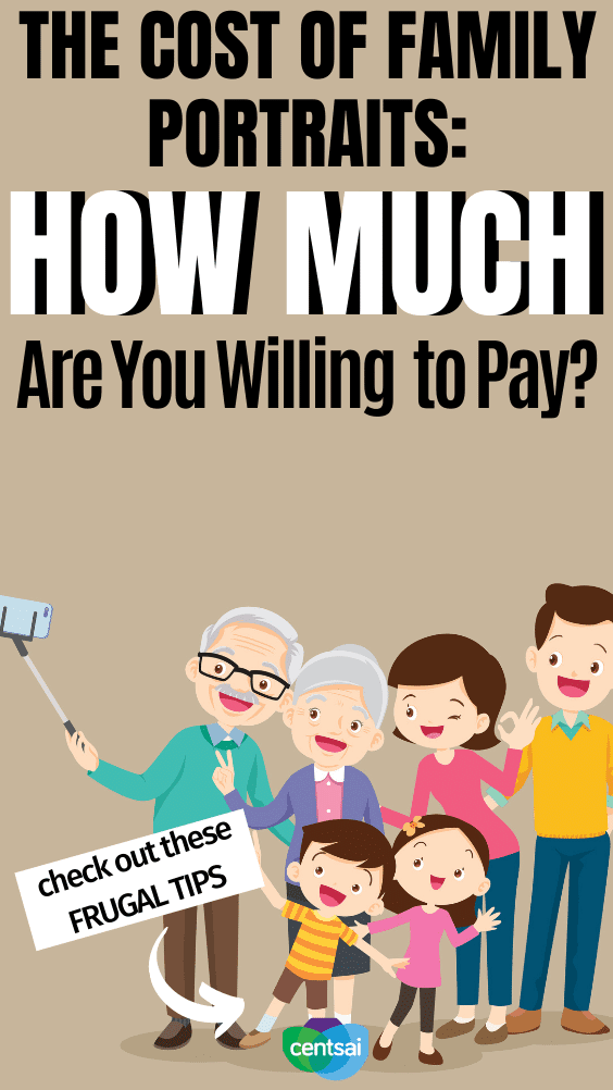 The Cost of Family Portraits: How Much Are You Willing to Pay? The cost of family portraits can be high. Find out how to afford a professional photographer without having to break your budget! #CentSai #family #moneysavingtips #personalfinance