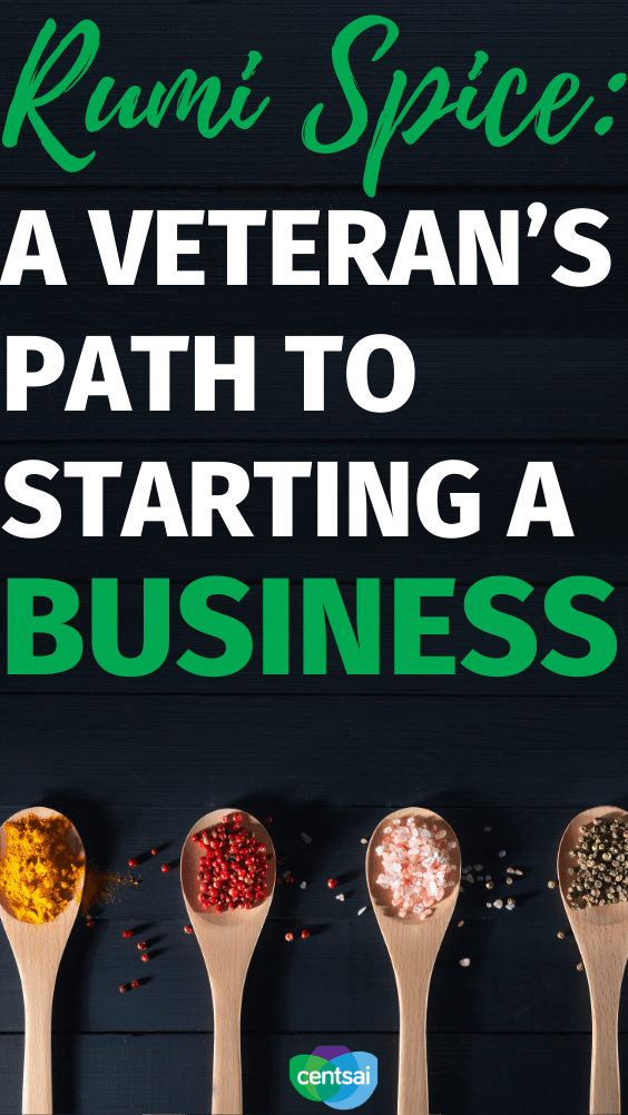 Rumi Spice: A Veteran's Path to Starting a Business. Kimberly Jung wanted to find new adventures after her military service. Here's how she started her saffron business, Rumi Spice. #CentSai #military #entrepreneurshipideas #entrepreneurshiptips