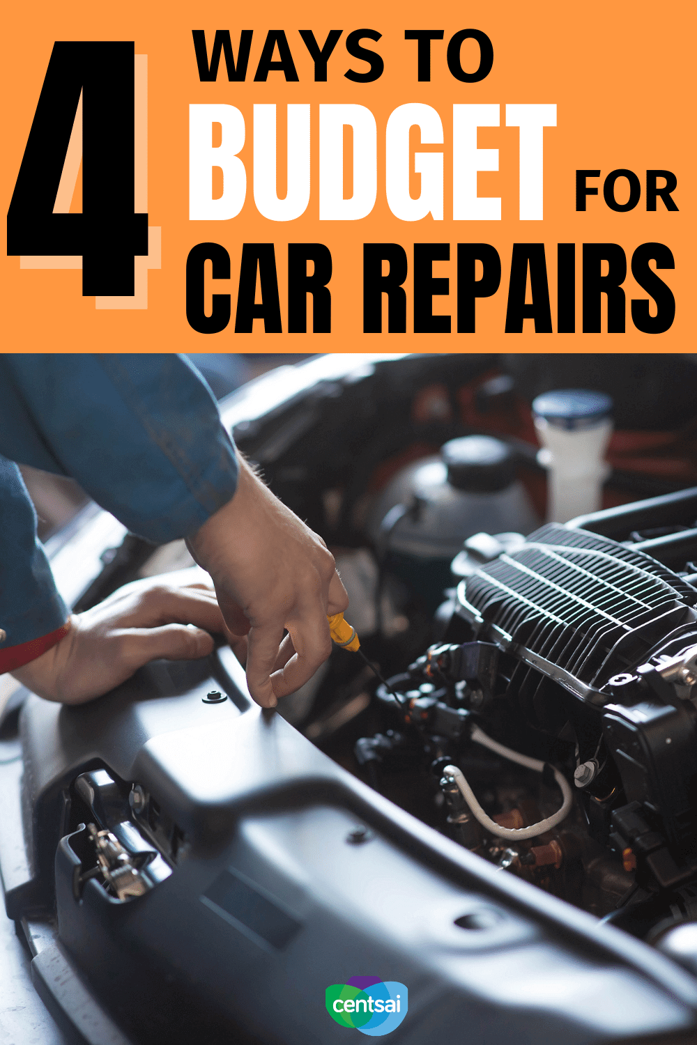 4 Ways to Budget for Car Repairs. While figuring out how to budget for car maintenance can be confusing, it isn't impossible. Watch this video to learn how much to save. #CentSai #carrepair #costofliving #frugaltips